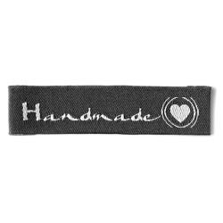 "Label ""Handmade"". 5,5 x 1,3 cm koksgrå"