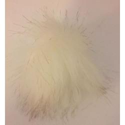 Pompon akryl hvid 6 - 8 cm