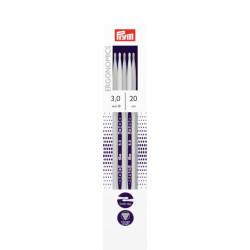 Prym Ergonomiske strømpepinde, 3mm, 20cm