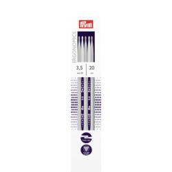 Prym Ergonomiske strømpepinde, 3,5mm, 20cm