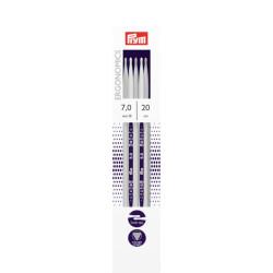 Prym Ergonomiske strømpepinde, 7mm, 20cm