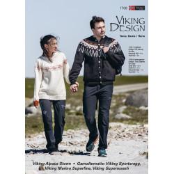 Viking strikkeopskrifter katalog 1708, Herre og dame trøjer, Viking Alpaca Storm