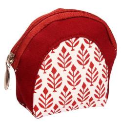 Knitpro reviere-burgundi, stof pung til maskemarkør og ander småting ca. 11cm x 9,5cm
