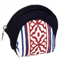 Knitpro navy, stof pung til maskemarkør og ander småting ca. 11cm x 9,5cm