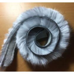 Pelskant imiteret kanin sølvgrå 60 cm x 2 cm