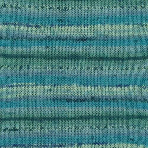 Drops Fabel Print 340 blå lagune