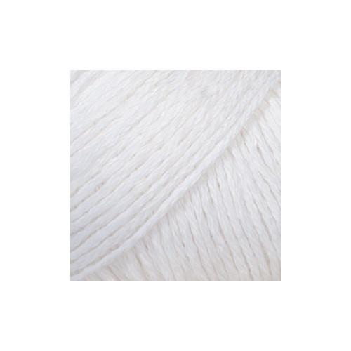 Drops Bomull - Lin UNI 01 hvid