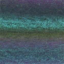 Drops Delight print 09 turkis/lilla