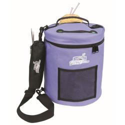 Garntaske. Smart og praktisk taske til garn, lilla