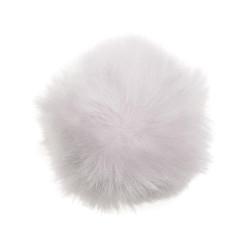 Akryl pompon hvid 40 - 60 mm