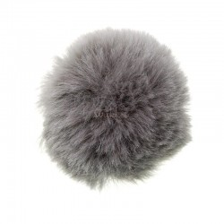 Akryl pompon grå 40 - 60 mm