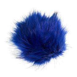 Pompon akryl mørkeblå nuancer 11 - 13 cm