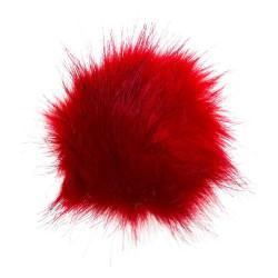 UDGÅET Pompon akryl rød 11 - 13 cm