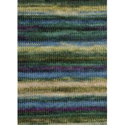 Lang Yarns Dipinto, Farve 18, grøn/auberginer