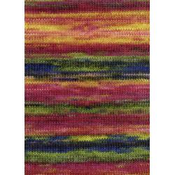 Lang Yarns Dipinto, Farve 53, multifarvet/rød