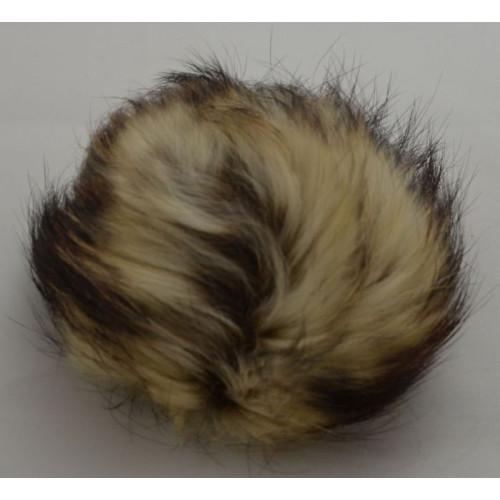 Pompon mårhund lysebrun 11-14 cm med tryklås