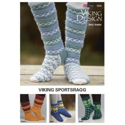 Viking strikkeopskrifter katalog 1805, Sokker i sportsragg