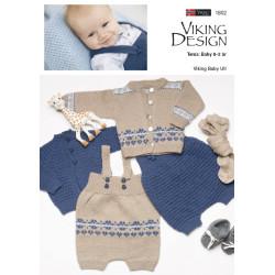 Viking strikkeopskrifter katalog 1802, Baby 0-2 år i baby ull