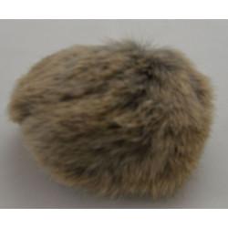 Pompon kanin natur 10 cm