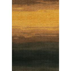 Lang Yarns Sol Dégradé. Farve 67, brun/grå/gul