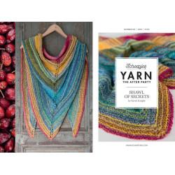 Shawl of secrets, sjal, strikket, scheepjes secret garden, engelsk