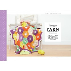 Hexagon, tæppe, hæklet, scheepjes Merino soft, engelsk