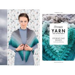 Stormy day shawl, sjal, hæklet, scheepjes whirl, engelsk