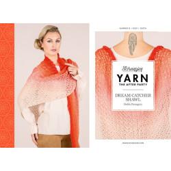 Dream catcher shawl, sjal, hæklet, scheepjes whirl, engelsk