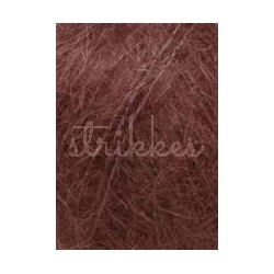 Lang Yarns Mohair luxe, farve 62, mørk rød
