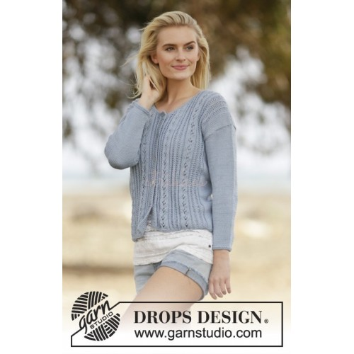 Orabel Cardigan by DROPS Design S-XXXL Cotton Merino