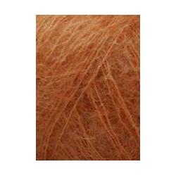 Lang Yarns Mohair luxe, farve 75, brændt orange