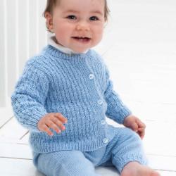 Jakke, bukser, hue og sokker - Viking Design 1006-2 Kit - 3-24 Mdr. - Viking Baby Ull