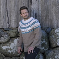 Vang genser. - viking design 1708-14 kit - s-xl - viking alpaca