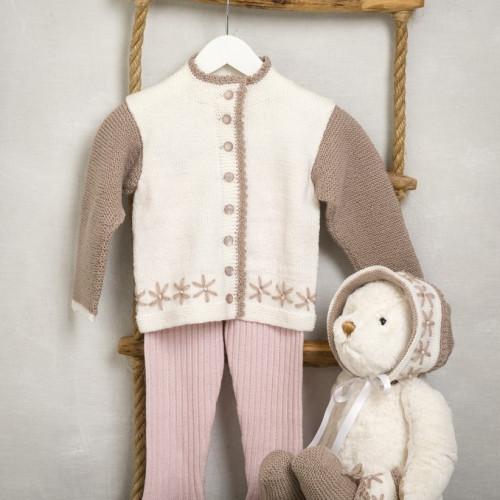 """""""Tulla"""" Jakke, hue og sokker - Viking Design 1509-26 Kit - 3-24 Mdr. - Viking Baby Ull"""