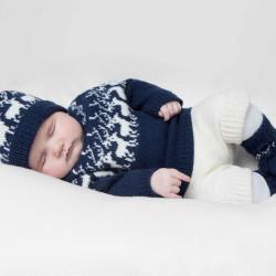 Genser, bukser, hue og sokker - Viking Design 1404-14 Kit - 3-24 Mdr. - Viking Baby Ull