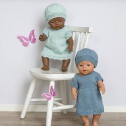 """Ida"" Kjole og hue - Babyborn 42 cm - Viking Design 1610-1A Kit - Viking Baby Ull"