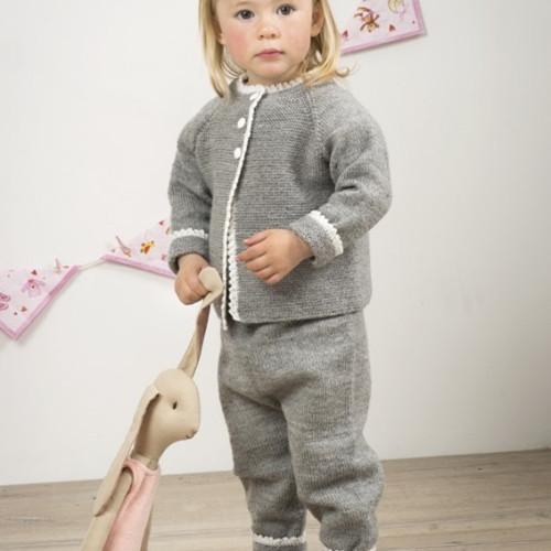 """""""Lillemor"""" Jakke og bukser - Viking Design 1509-20 Kit - 0-24 Mdr. - Viking Baby Ull"""