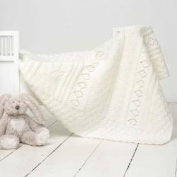 Babytæppe - Viking Design 1305-6 Kit - Viking Baby Ull