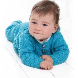 Genser, bukser, hue og sokker - Viking Design 1006-7 Kit - 0-12 Mdr. - Viking Baby Ull