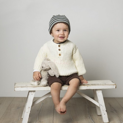 """""""Noah"""" Genser, shorts og hue - Viking Design 1608-15 Kit - 1-24 Mdr. - Viking Bambino"""