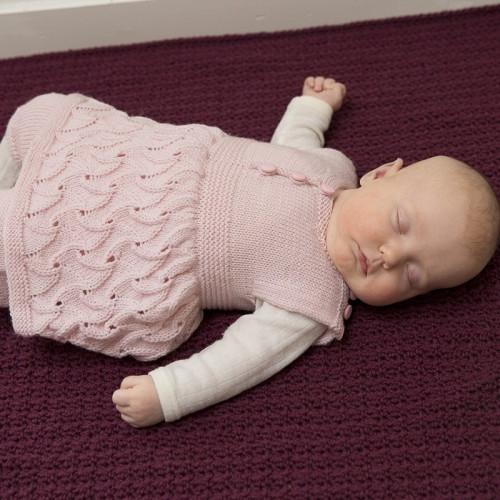 Tæppe - Viking Design 1802-3 Kit - Hæklet Tæppe - Viking Baby Ull