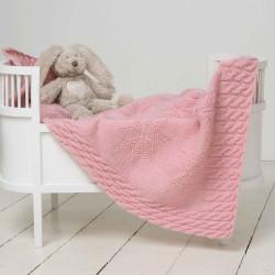 Tæppe 50cm x 74cm - Viking Design 1305-15 Kit - Viking Baby Ull
