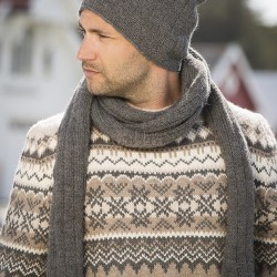 Hue og halstørklæde - Viking Design 1710-8A Kit - One-size - Viking Alpaca Storm