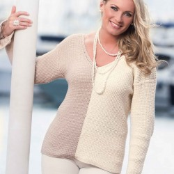 Image of   Genser - viking design 1408-10 kit - x-small-xxl - viking bjørk garn