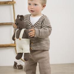 """""""Lillebror"""" Jakke og bukser - Viking Design 1509-25 Kit - 0-24 Mdr. - Viking Baby Ull"""