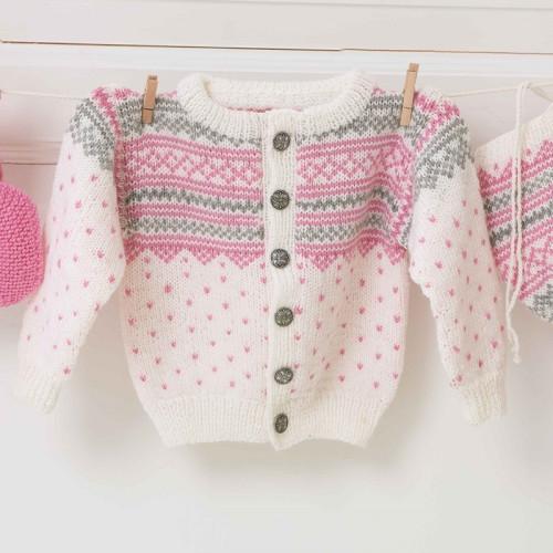 Kofte, hue og halstørklæde - Viking Design 1305-25 Kit - 1 Mnd. - 4 År - Viking Baby Ull