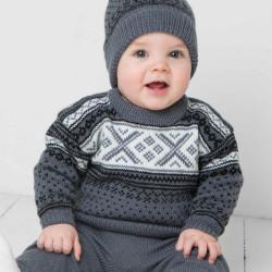 Genser, bukser og hue - Viking Design 1404-7 Kit - 3 Mdr.-6 År - Viking Baby Ull