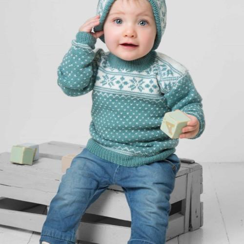 Genser og hue - Viking Design 1404-10 Kit - 3 Mdr.-4 År - Viking Baby Ull
