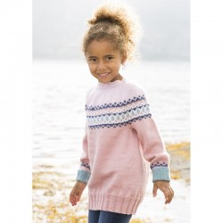 """Suna"" Genser - Viking Design 1612-3 Kit - 2-12 År - Viking Baby Ull"