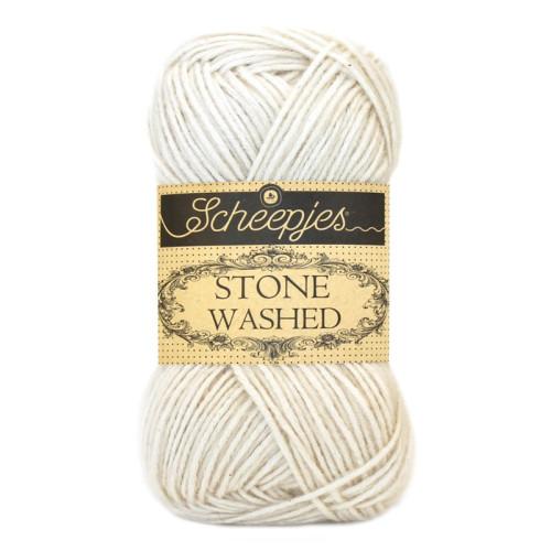 Scheepjes Stone washed 50g, farve 801 Moon stone